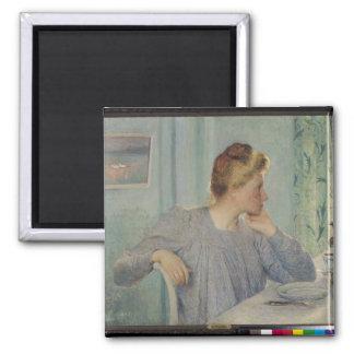 Portrait of a Woman, 1900 Square Magnet