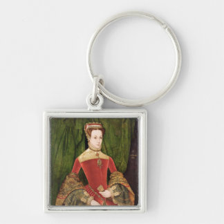 Portrait of a Woman, aged 16, previously identifie Silver-Colored Square Key Ring
