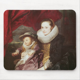 Portrait of a Woman and Child Mouse Mat