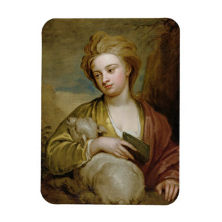 Portrait of a Woman as St. Agnes, traditionally id Rectangular Photo Magnet