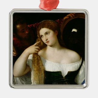 Portrait of a Woman at her Toilet, 1512-15 Christmas Ornament
