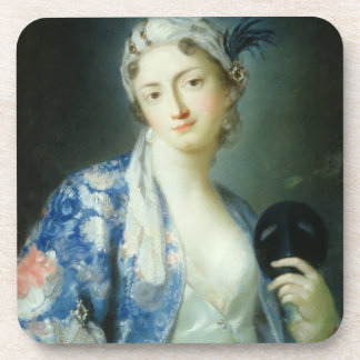 Portrait of a Woman Beverage Coaster