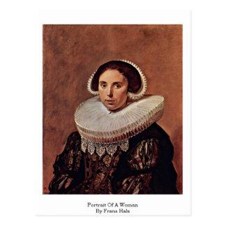 Portrait Of A Woman By Frans Hals Postcard