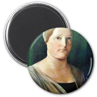 Portrait Of A Woman By Lotto Lorenzo (Best Quality 6 Cm Round Magnet