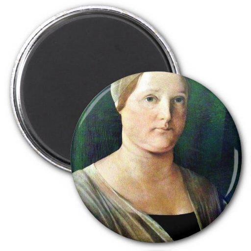 Portrait Of A Woman By Lotto Lorenzo (Best Quality Fridge Magnet