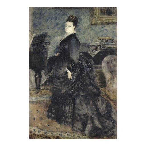 Portrait of a Woman by Pierre-Auguste Renoir Photograph