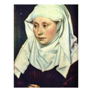 Portrait Of A Woman By Robert Campin Personalized Flyer