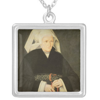 Portrait of a Woman, c.1550 Silver Plated Necklace