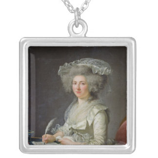 Portrait of a Woman, c.1787 Silver Plated Necklace