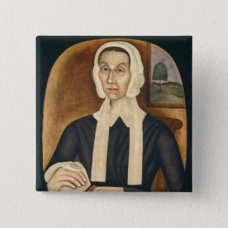 Portrait of a Woman, c. 1845 (oil on canvas) 15 Cm Square Badge