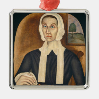 Portrait of a Woman, c. 1845 (oil on canvas) Christmas Ornament