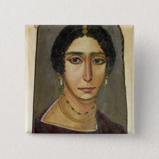 Portrait of a woman, from Fayum, 1st-4th century 15 Cm Square Badge
