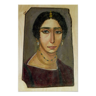 Portrait of a woman, from Fayum, 1st-4th century Poster