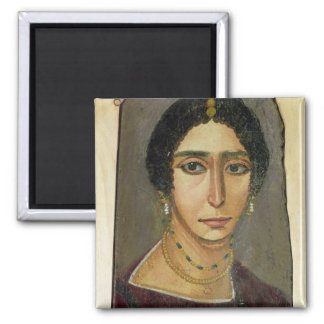 Portrait of a woman, from Fayum, 1st-4th century Square Magnet