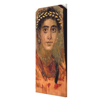 Portrait of a Woman, from Fayum, Romano-Egyptian, Canvas Print
