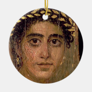 Portrait of a Woman, from Fayum, Romano-Egyptian, Round Ceramic Decoration