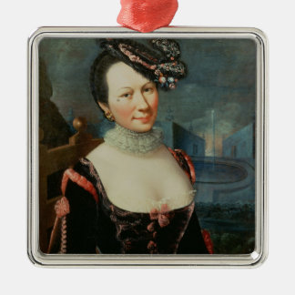 Portrait of a Woman Holding a Musical Score Christmas Ornament