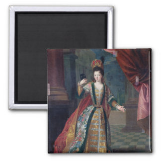 Portrait of a Woman in a Ball Gown Refrigerator Magnet