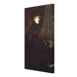 Portrait of a Woman in Black by Sir John Lavery Canvas Prints