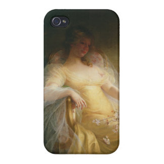 Portrait of a Woman (oil on canvas) Case For The iPhone 4