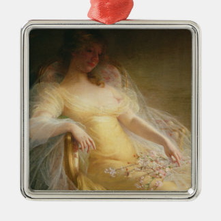 Portrait of a Woman (oil on canvas) Christmas Ornament