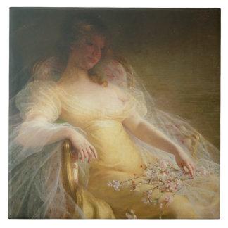 Portrait of a Woman (oil on canvas) Tile