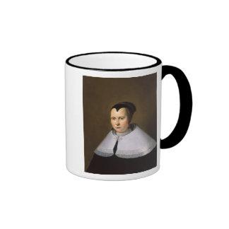 Portrait of a Woman (oil on panel Coffee Mug