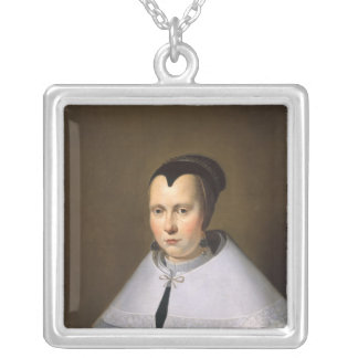 Portrait of a Woman (oil on panel Custom Necklace