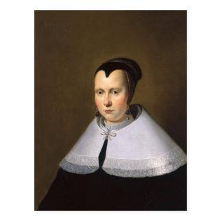 Portrait of a Woman (oil on panel Postcard