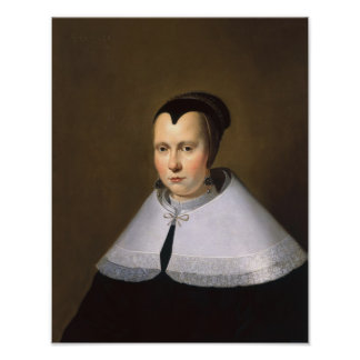 Portrait of a Woman (oil on panel Poster