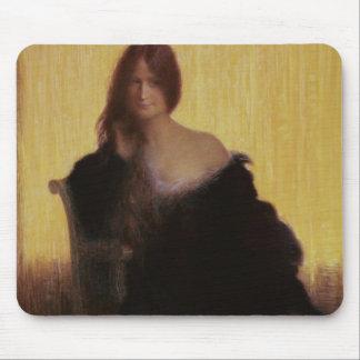 Portrait of a Woman (pastel on paper) Mouse Mat