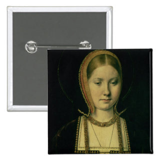 Portrait of a woman, possibly Catherine of Aragon 15 Cm Square Badge