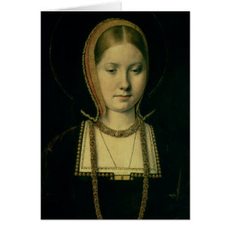 Portrait of a woman, possibly Catherine of Aragon Card