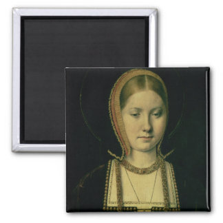 Portrait of a woman, possibly Catherine of Aragon Magnet