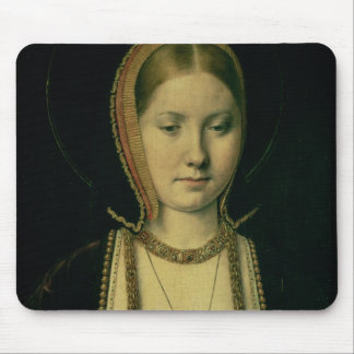 Portrait of a woman, possibly Catherine of Aragon Mouse Mat