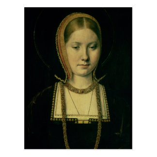 Portrait of a woman, possibly Catherine of Aragon Postcard