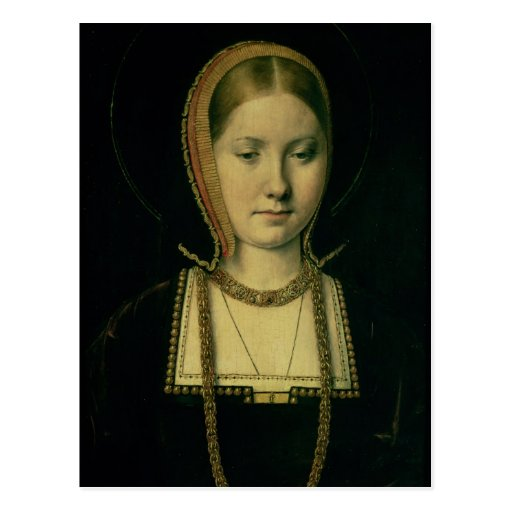 Portrait of a woman, possibly Catherine of Aragon Post Cards