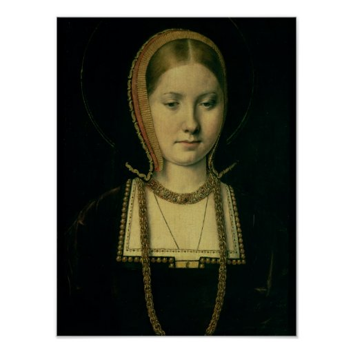Portrait of a woman, possibly Catherine of Aragon Posters