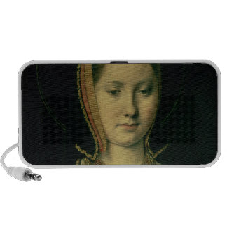 Portrait of a woman, possibly Catherine of Aragon Laptop Speaker