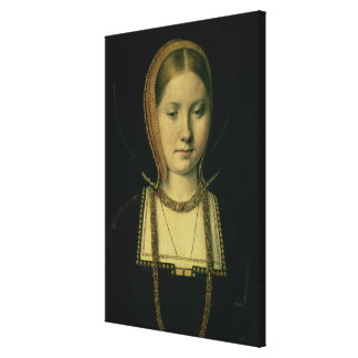 Portrait of a woman, possibly Catherine of Aragon Stretched Canvas Print