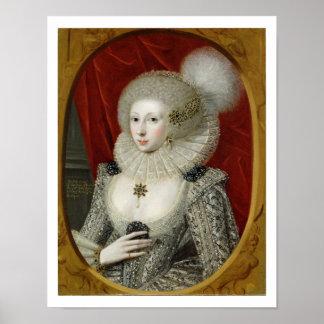 Portrait of a woman, possibly Frances Cotton, Lady Poster