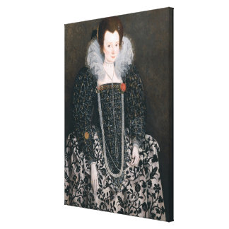 Portrait of a Woman, traditionally identified as M Canvas Print