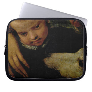 Portrait of a Woman with a Child and a Dog, detail Laptop Sleeve