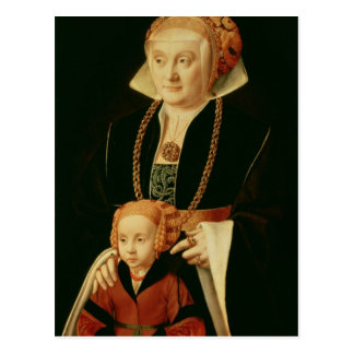 Portrait of a Woman with her Daughter Postcard