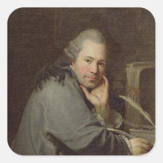 Portrait of a Writer, 1772 Square Sticker