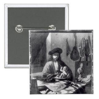 Portrait of a Young Artist 15 Cm Square Badge