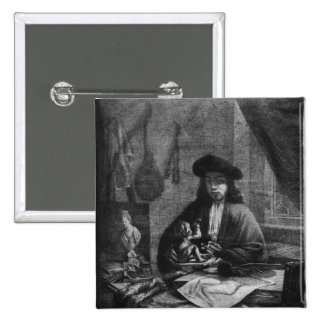 Portrait of a Young Artist, engraved by 15 Cm Square Badge