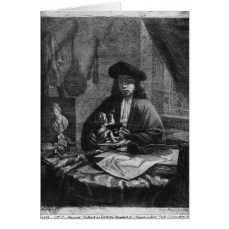 Portrait of a Young Artist, engraved by Card