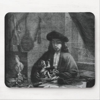 Portrait of a Young Artist, engraved by Mouse Mat