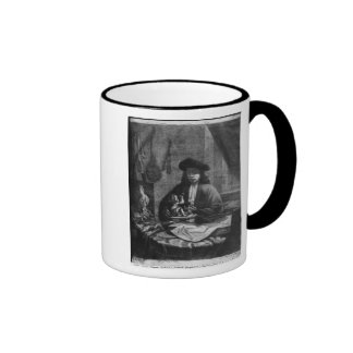 Portrait of a Young Artist, engraved by Coffee Mugs